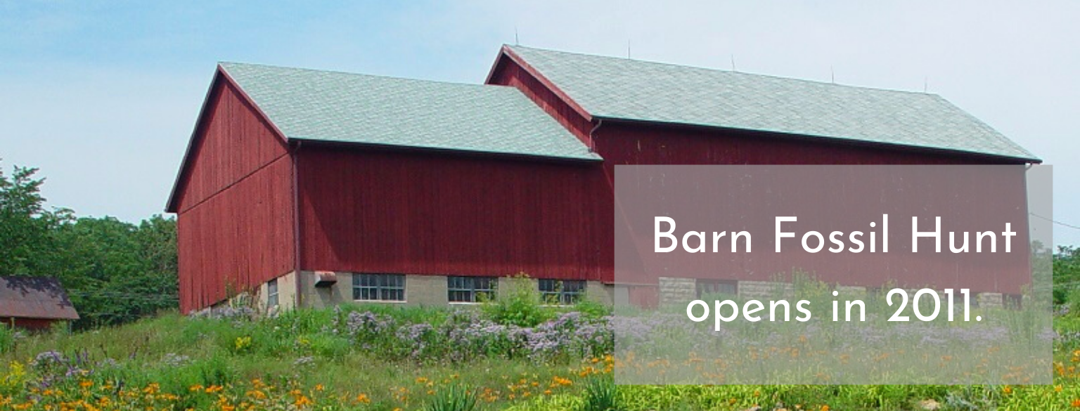 Barn Fossil Hunt opens in 2011