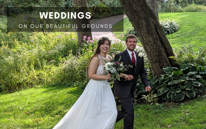 Weddings on our beautiful grounds