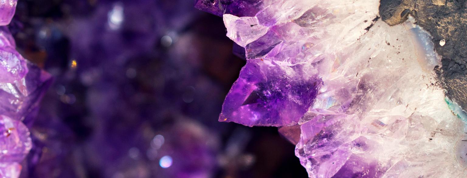 Photo of amethyst crystals