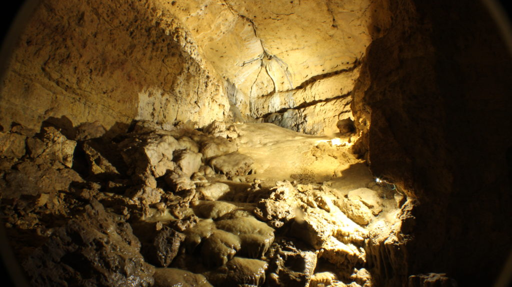 Photo of our Flowstone and ribbon stalactite in North Cave