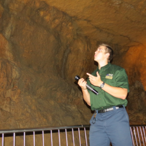 Photo of tour guide in cave
