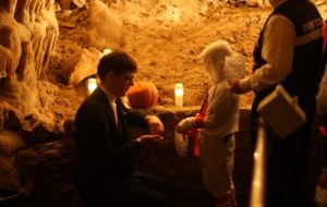 Photo of Holloween Trick-or-Treating at Cave of the Mounds
