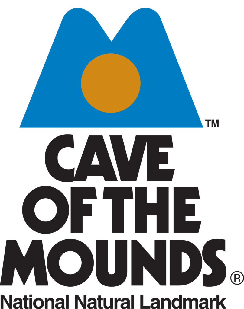 Cave of the Mounds Vertical Logo