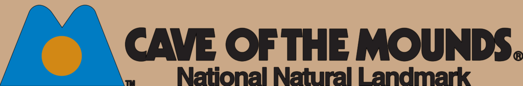 Cave of the Mounds Horizontal Logo with Tan Background