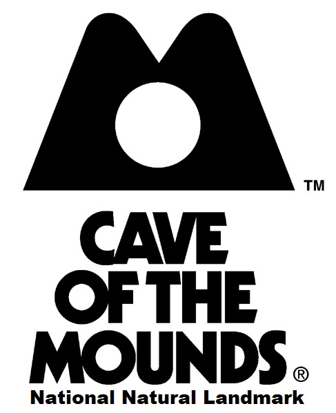 Cave of the Mounds Vertical Logo Black and White
