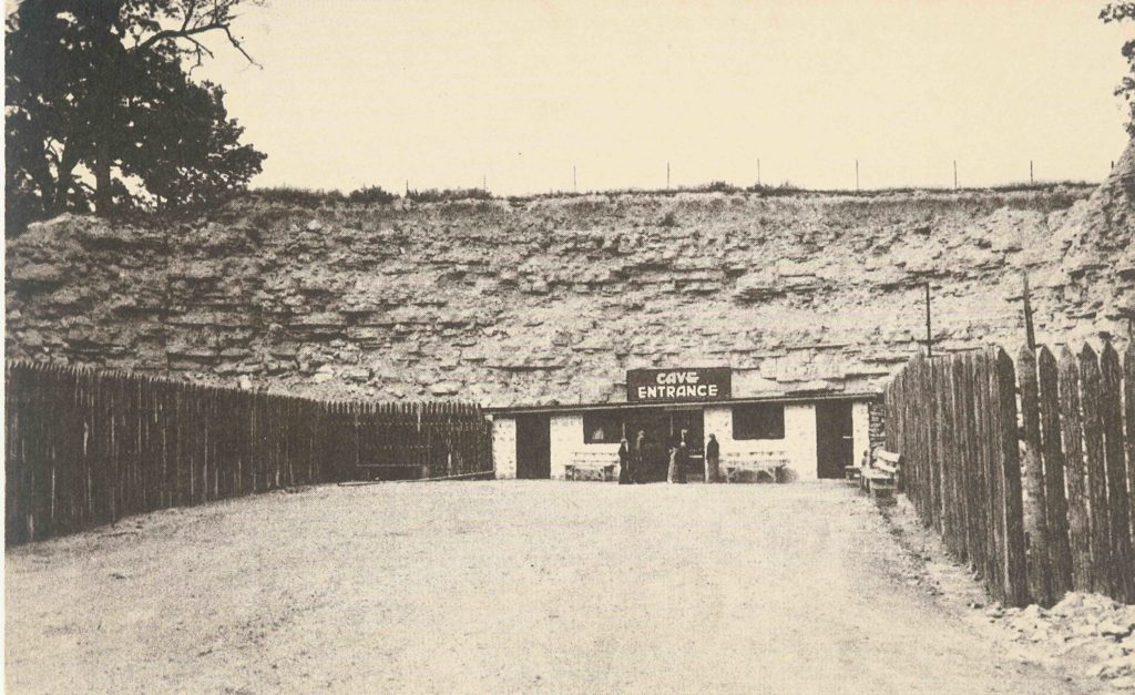 Vintage Photo of the Cave Entrance Building in the 1940s