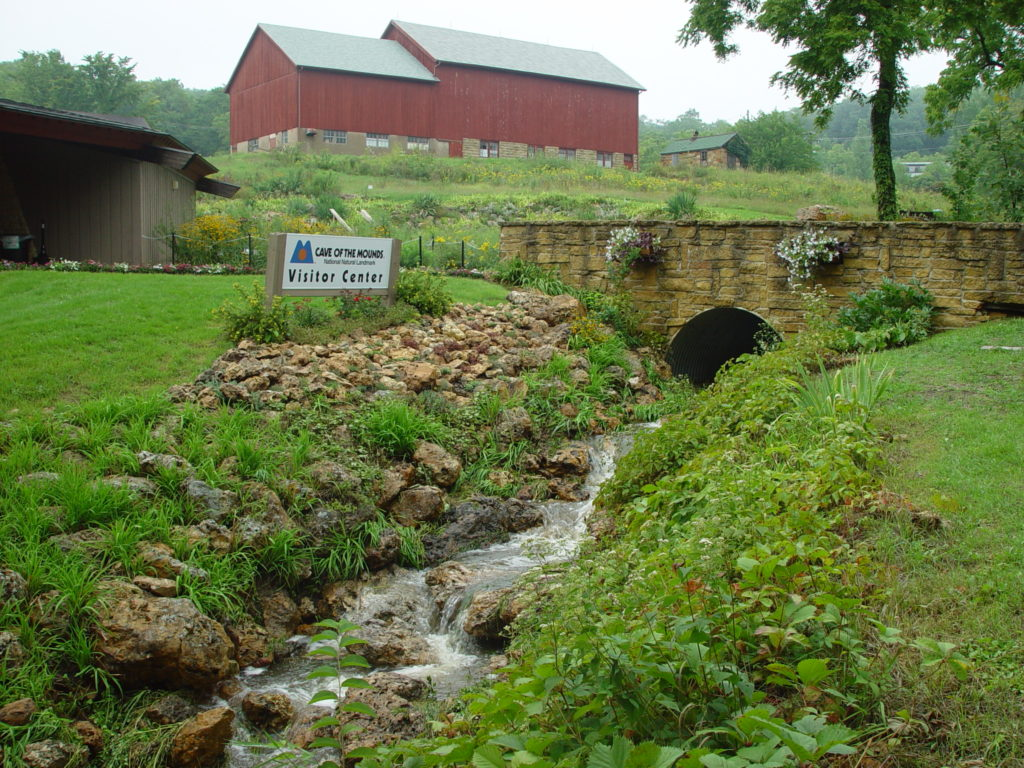 Photo of our Chert Creek in front of our Visitors Center