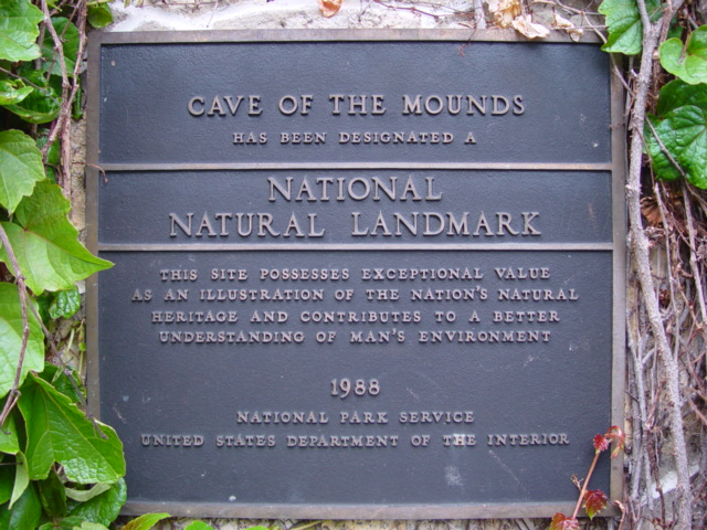 Photo of our National Natural Landmark Plaque from 1988