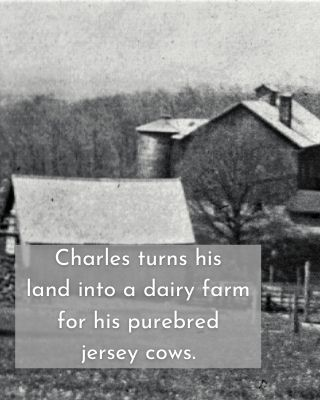 CHarles turns his land into a dairy farm for his purebred jersey cows.